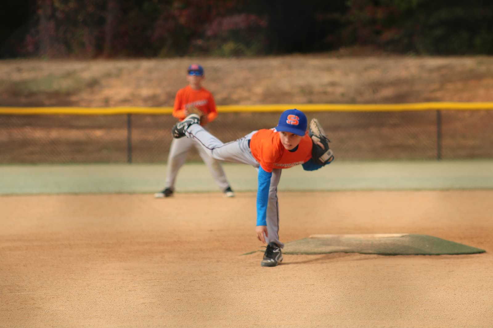 Hayden on the mound!